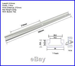 500mm T-track T-slot Router Table Fence Table Saw Aluminum Slot