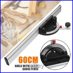 60 Band Saw Table Saw Router Table Angle Miter Gauge with Fence/T Slot T Tr N1C3