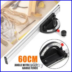 60cmTable Saw Bandsaw Router Table Angle Mitre Woodworking Guide Gauge Fence Cut