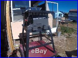ACE 10 INCH TABLE SAW with STAND, RIP FENCE, MITER GUIDE, ANTI-KICK & WRENCHES