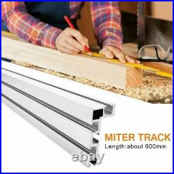Aluminium Alloy Fence Stop+Durable Newest Table Saw Miter Track 600mm Accessory