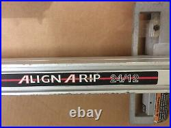 Craftsman 24 / 12 Align A Rip Table Saw Fence, Rails & Mounting Bolts From 315