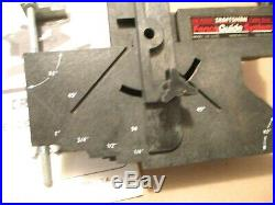 Craftsman Table Saw Fence Guide System Model 720.32370 With Instruction Manual
