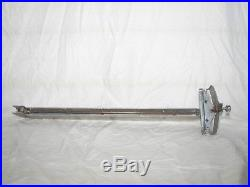 Craftsman table saw rip fence and slide bar, geared micro adjust 103