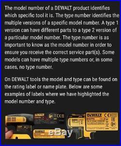 DeWalt Genuine Spare Parts DCS7485 Table Saw Type 1