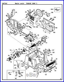 DeWalt Genuine Spare Parts DW744 Table Saw Type 1