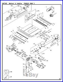 DeWalt Genuine Spare Parts DW745 Table Saw Type 1