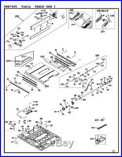 DeWalt Genuine Spare Parts DWE7491 Table Saw Type 1