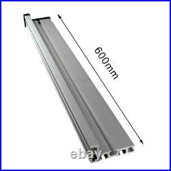 Durable Newest Table Saw Miter Track 600mm Accessory Aluminium Alloy Fence Stop