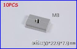M8 Aluminum sliding slab block for Router Table Saw Fence 10PCS