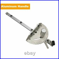 Miter Gauge Track Stop Table Saw Router Aluminum Assembly 450mm Woodworking Tool
