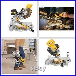 Miter Table Saw Cordless Lithiumion Adjustable Stainless Steel Sliding Fence Cut
