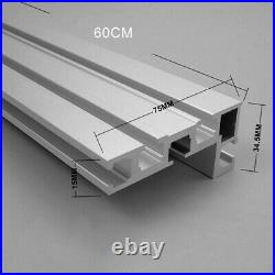 Newest Table Saw Miter Track 600mm Accessory Aluminium Alloy Fence Stop Durable