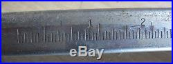 Older Delta Rockwell 9 Table Saw Parts Micro-Adjust Fence Rail, Front