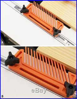 One Pair Of Multi-purpose FeatherBoards For Woodworking Router Table Saw Fences