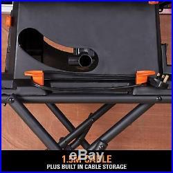 Portable Table Saw 255mm Blade Heavy Duty Steel Wood Metal Cutting Fence Machine