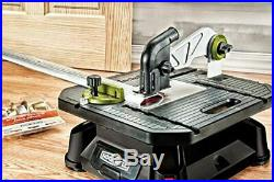 Portable Tabletop Saw with Steel Rip Fence, Miter Gauge, Scroll