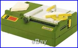 Proxxon Table Saw Adjustable Longitudinal Fence Blade Guard System Dust Port