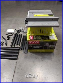 Ryobi 15 Amp 10 Table Saw with Miter Gauge Rip Fence Heavy Duty Steel RTS10G
