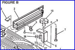 Ryobi OEM Miter Fence Adjustment Knob P/N 662285001 for BT3000/3100 Table Saws