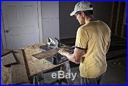 Table Saw Carbon Blade Benchtop Adjustable Miter Gauge Steel Rip Fence 4 Inch