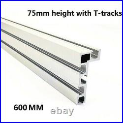 Table Saw Miter Track 600mm Accessory Aluminium Alloy Fence Stop Durable Durable