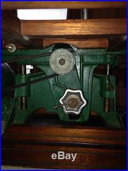 Vintage Table Saw Powr Kraft 7 Inch Tilt Mahogany Base, Fence Square Table