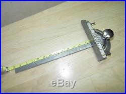 Vintage Craftsman Table Saw slot sliding cross cut miter gauge guide fence