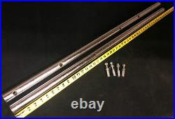 Vintage Delta Rockwell 10 Unisaw 34-450 44 Rip Fence Rail Set withMounting Bolts