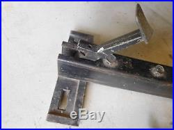 Vintage Sears Craftsman 8 Table Saw rip Fence Cam Lock 20 with Rails Type 113