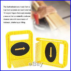 Woodworking Double Feather Loc Board Set Slot T-Track Woodwork Saw Table Fence