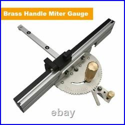 Woodworking Enhanced Fence Miter Gauge Set Table Saw Router Angle 450mm Stopper